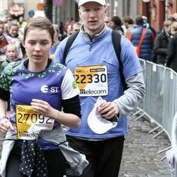 The 25th Lattelecom Riga marathon - Rolfs Vendiņš (22330), Anna Marta Vaica (27092)