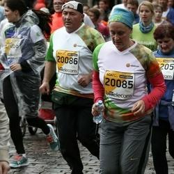 The 25th Lattelecom Riga marathon - Ilze Nasaļska (20085), Alexandr Nassalskiy (20086)