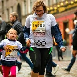 The 25th Lattelecom Riga marathon - Alise Rutka (15990), Ilze Rutka (15995)