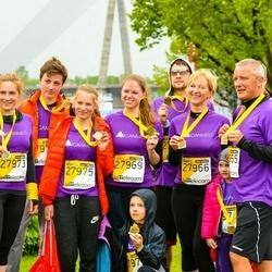 The 25th Lattelecom Riga marathon - Aija Medne (27966), Elizabete Medne (27969), Sigita Joņina (27973), Šarlote Medne (27975)