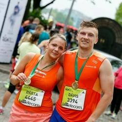 The 26th Lattelecom Riga Marathon - Dāvis Pērkons (3394), Dārta Repse (4445)