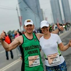 The 26th Lattelecom Riga Marathon - Ingrida Voicechovska (715), Raimundas Rinkevicius (716)