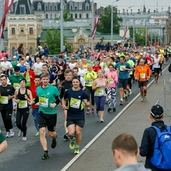 The 26th Lattelecom Riga Marathon - Hisako Inoue (4757), Ivo Žunna-Veličko (4859), Aris Peics (5101)