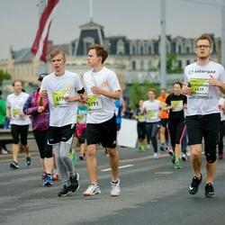 The 26th Lattelecom Riga Marathon - Aleksandrs Karevs (4619), Kristers Dīnsbergs (6190), Kārlis Lauva (6191)