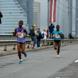 The 26th Lattelecom Riga Marathon - Abiyot Eshetu Deme (30), Divina Jepkogei (31)
