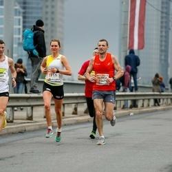 The 26th Lattelecom Riga Marathon - Valērijs Šakelis (1347), Kitija Valtere (1911), Andrejs Bondarevs (2667)
