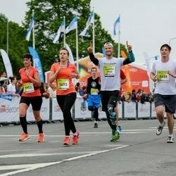 The 26th Lattelecom Riga Marathon - Kaspars Celitāns (3965), Kristīne Hartmane (5493), Jānis Runcis (5659), Renāte Rācenāja (5903)