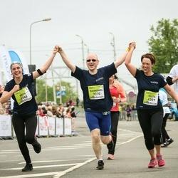 The 26th Lattelecom Riga Marathon - Arta Baltmane (3368), Raimonds Zoltners (3370), Evita Zoltnere (4357)