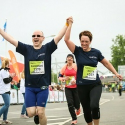 The 26th Lattelecom Riga Marathon - Arta Baltmane (3368), Raimonds Zoltners (3370), Evita Zoltnere (4357), Sergejs Bogdanovs (6197)