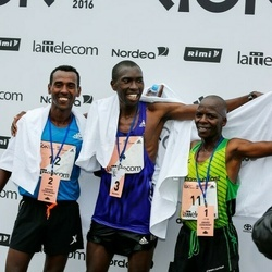 The 26th Lattelecom Riga Marathon - Beyene Effa Soboka (3), Dominic Kangor Kimwetich (11), Kaleab Selomon Ghilagabr (12)
