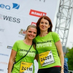 The 26th Lattelecom Riga Marathon - Jolanta Petrevica (24198), Kristīne Lēmane (24207)
