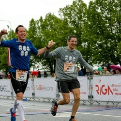 The 26th Lattelecom Riga Marathon - Thibaut De Swarte (1071), Clement Lavigne (1097)