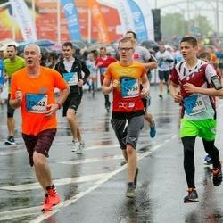 The 26th Lattelecom Riga Marathon - Edvīns Ziedonis (12956), Raivo Dailide (13618), Andris Strazdiņš (13642)