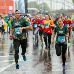 The 26th Lattelecom Riga Marathon - Zanda Bergmane (10741), Jānis Kalendarovs (10742)