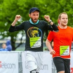 The 26th Lattelecom Riga Marathon - Alexandros Spyrantis (4417), Markus Rosenbauer (4418)