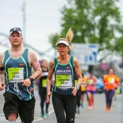 The 26th Lattelecom Riga Marathon - Ansis Gornavs (2836), Kristīne Gornava (2837)