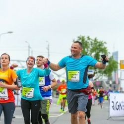 The 26th Lattelecom Riga Marathon - Dzmitry Balauniou (2966), Maryana Bolavneva (4129)