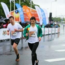 The 26th Lattelecom Riga Marathon - Agnija Tararuja (1818), Artūrs Naudiņš (1820)