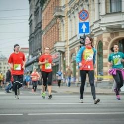 The 26th Lattelecom Riga Marathon - Zane Dovgane (5270), Kristaps Blekte (5271), Aija Baibusa (5704)