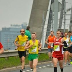 The 26th Lattelecom Riga Marathon - Gintaras Andruska (4223), Ruslans Šulga (5147)