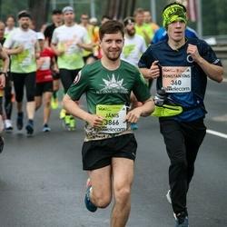 The 26th Lattelecom Riga Marathon - Konstantīns Biktimirovs (360), Jānis Linītis (3866)