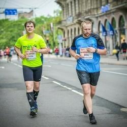 The 26th Lattelecom Riga Marathon - Mindaugas Vadapolas (806), Aliaksei Liavonau (1404)
