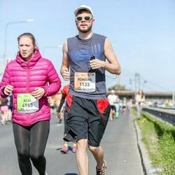 The 27th Lattelecom Riga Marathon - Romāns Galaiko (1133), Aija Lāce (4985)