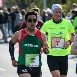The 27th Lattelecom Riga Marathon - Nils Hjelle (81), Juan Gandaría (130)