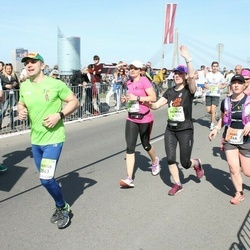The 27th Lattelecom Riga Marathon - Agnė Vėjelytė (268), Marius Ignatonis (3841), Karina Ciurliene (3905), Palmira Jonaitiene (4101)