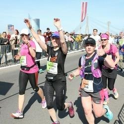 The 27th Lattelecom Riga Marathon - Agnė Vėjelytė (268), Karina Ciurliene (3905), Palmira Jonaitiene (4101)