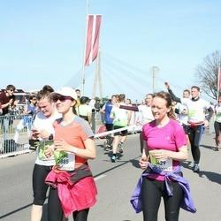 The 27th Lattelecom Riga Marathon - Zane Zvirbule (2885), Gundega Liepiņa (3429), Alise Podniece (7048)
