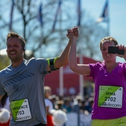The 27th Lattelecom Riga Marathon - Irma Huis In 't Veld (2702), Lawrence Smeets (2703)