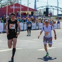The 27th Lattelecom Riga Marathon - Ivans Petrovs (1565), Artis Logins (1866)