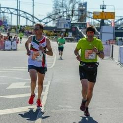 The 27th Lattelecom Riga Marathon - Franck Liaigre (85), Dainis Saukāns (1704)
