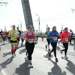 The 27th Lattelecom Riga Marathon - Sintija Geidāne (1099), Ērika Dilāne (5131), Anna Garbuze (5969), Uldis Cērps (6890)