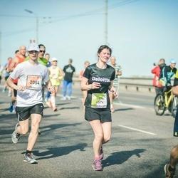 The 27th Lattelecom Riga Marathon - Aliaksandr Dzeraviaha (2054), Iveta Risteska (4574)