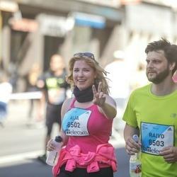 The 27th Lattelecom Riga Marathon - Aija Brauna (8502), Raivo Žēperis (8503)