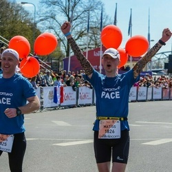 The 27th Lattelecom Riga Marathon - Jānis Miezers (1825), Matīss Vīksne (1826)