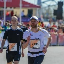 The 27th Lattelecom Riga Marathon - Andis Gailis (828), Helmuts Jauja (2135)