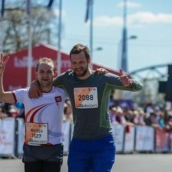 The 27th Lattelecom Riga Marathon - Matīss Rikters (1527), Mārtiņš Sergejevs (2088)