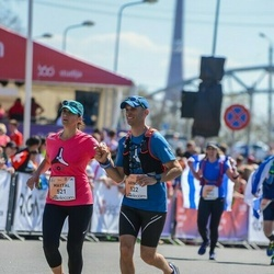 The 27th Lattelecom Riga Marathon - Maytal Segev (521), Arnon Segev (522)