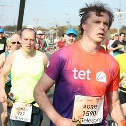 The 27th Lattelecom Riga Marathon - David Ginnell (448), Roman Nesterov (927), Agris Samcovs (1590)