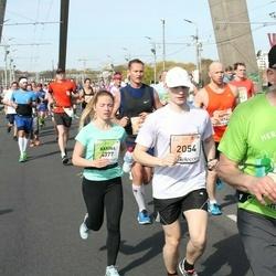 The 27th Lattelecom Riga Marathon - Aliaksandr Dzeraviaha (2054), Karīna Gončarenko (4377)