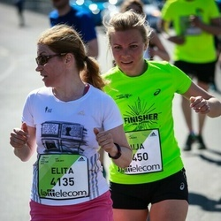 The 27th Lattelecom Riga Marathon - Elita Ozoliņa (4135), Aija Kandele (4450)
