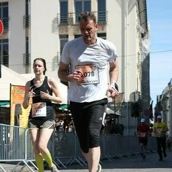 The 27th Lattelecom Riga Marathon - Alena Kaliashova (517), Kaspars Vāvers (2078)