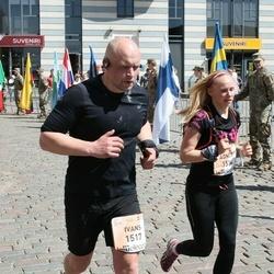 The 27th Lattelecom Riga Marathon - Agnese Meikšāne (1514), Ivans Mihailovs (1517)