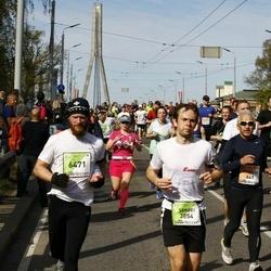 The 27th Lattelecom Riga Marathon - Guntars Zariņš (649), Sergei Kharitonov (3854), Ēriks Roze (6471)