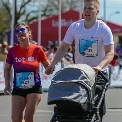 The 27th Lattelecom Riga Marathon - Tatjana Kukule (9627), Jānis Krūka (9739)