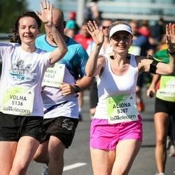Lattelecom Riga Marathon - Volha Basak (5136), Aliona Aliushkevich (5387)