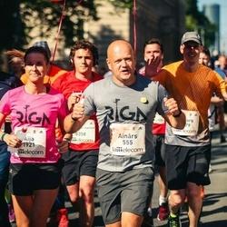 Lattelecom Riga Marathon - Ainārs Gudēvics (555), Aija Freiberga (1921)